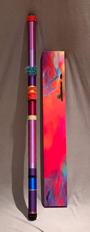 "Quiet Oboe in Purple with Liz Cummings 7""x 48"""