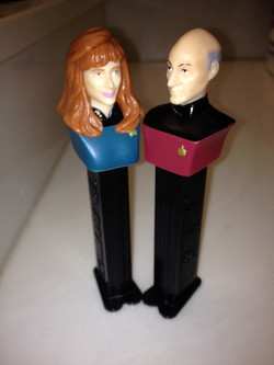Picard and Crusher Pez Dispensers