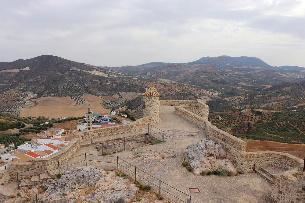Viewpoint from the top of Castillo de Olvera in Olvera, Spain