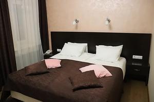 Double bed in Hotel Esplanada St Petersburg Russia
