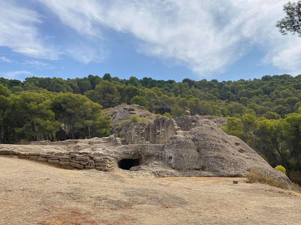 Ruinas de Bobastro set inside a forest north of Malaga, Spain