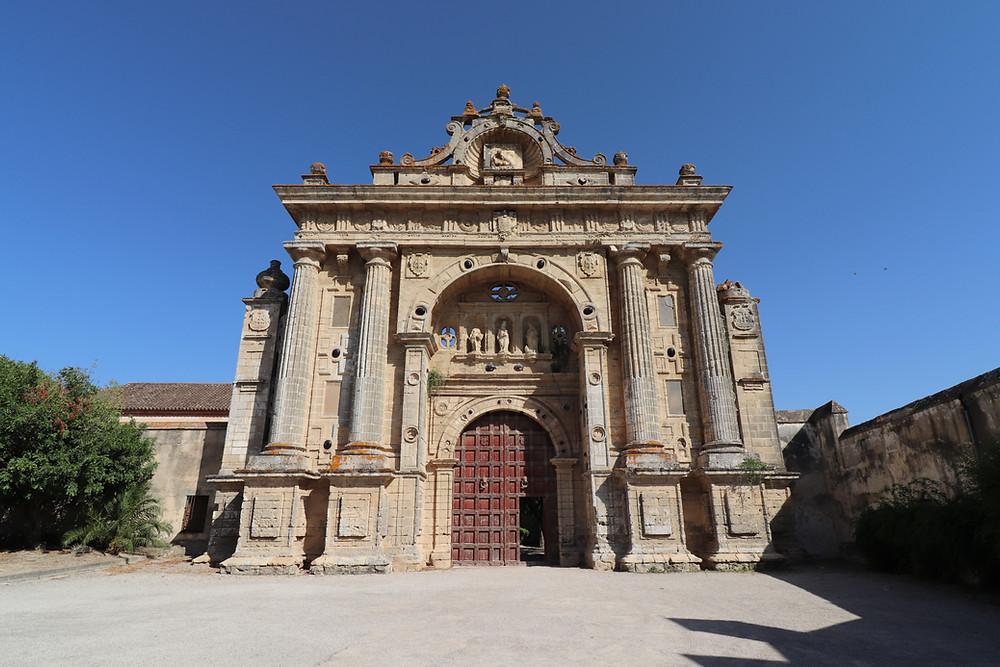 Monasterio de la Cartuja outside entrance in Jerez, Cadiz, Spain