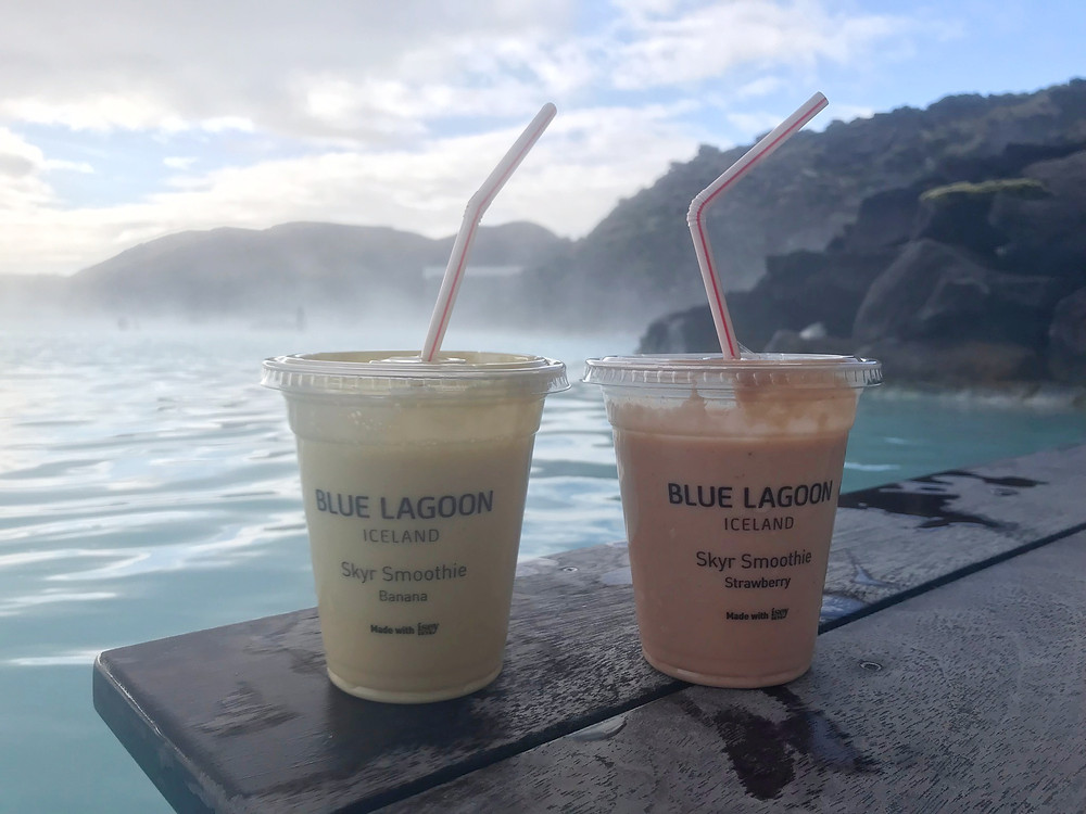 2 smoothies from the Blue Lagoon in Iceland