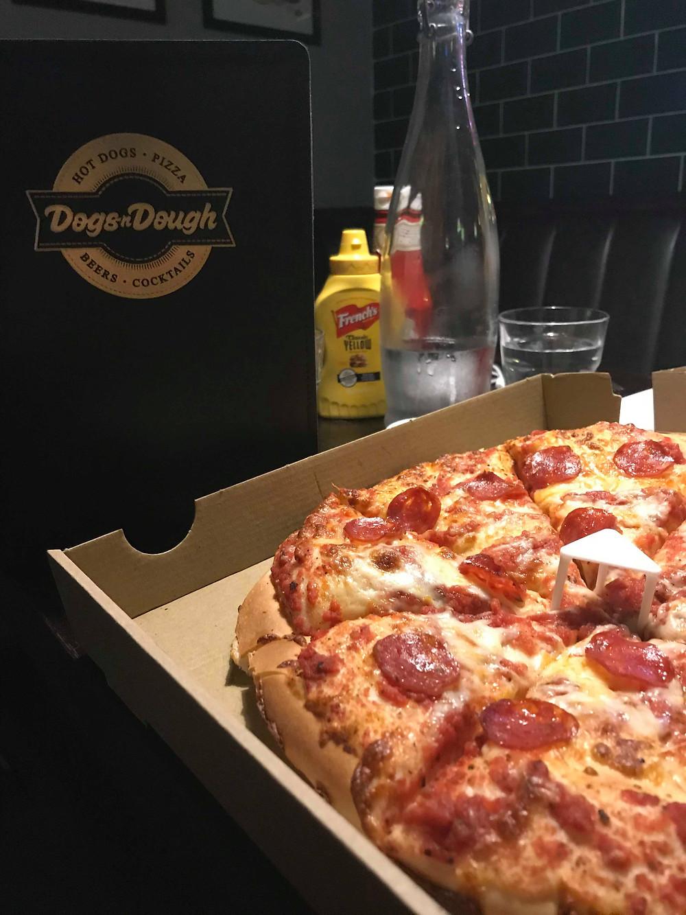 Pepperoni pizza underground bar Manchester UK