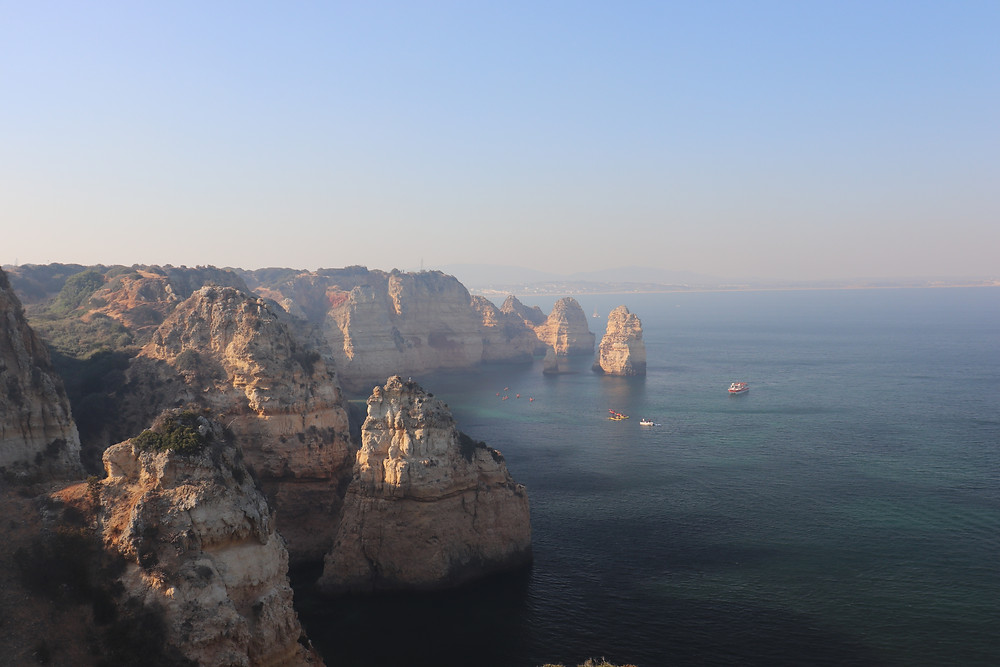 View of the Algarve Coast in portugal
