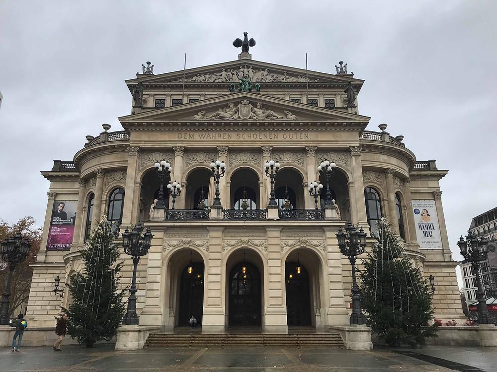 Alte Oper building in Frankfurt Germany
