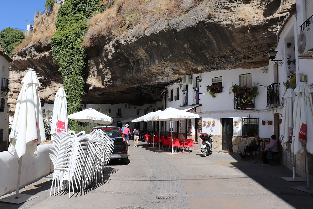 Setenil de las Bodegas white village in southern spain