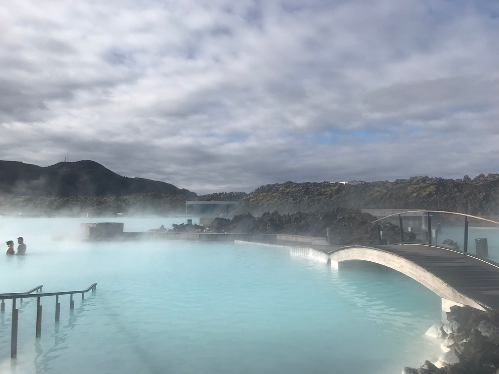 Blue Lagoon at sunrise in Iceland
