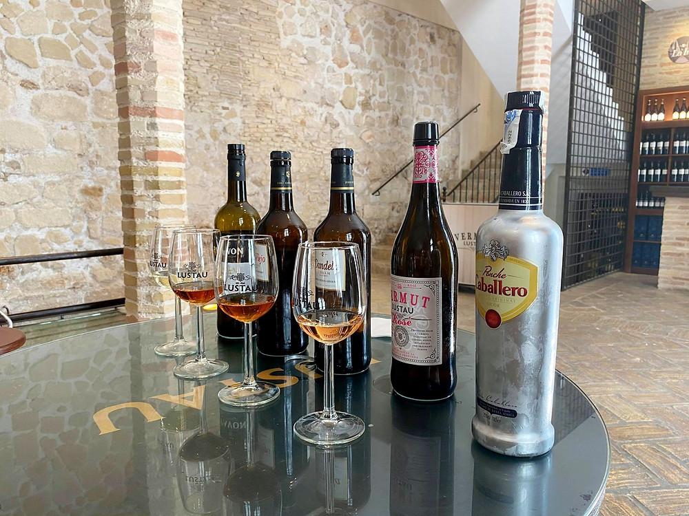 Wine tasting at Bodegas Caballero shop in El Puerto de Santa Maria, Cadiz