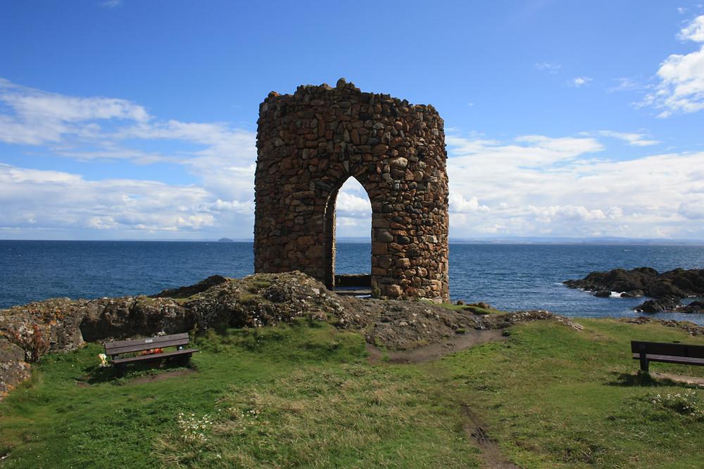 Lady's Tower along the Fife Coastal Path, Scotland