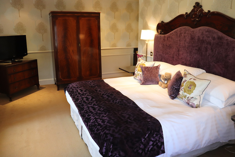 View of the double bed in the turret room rufflets hotel st andrews scotland