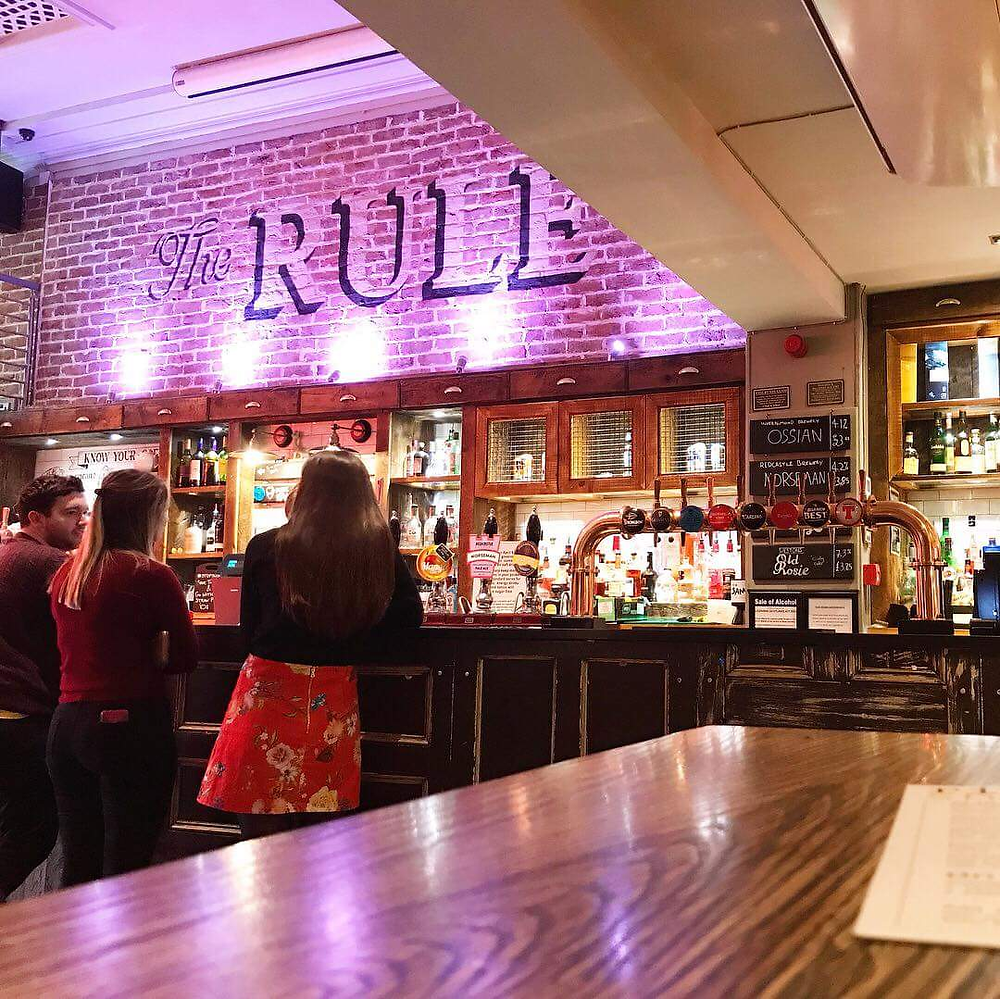 The Rule bar from the inside in St Andrews, Scotland