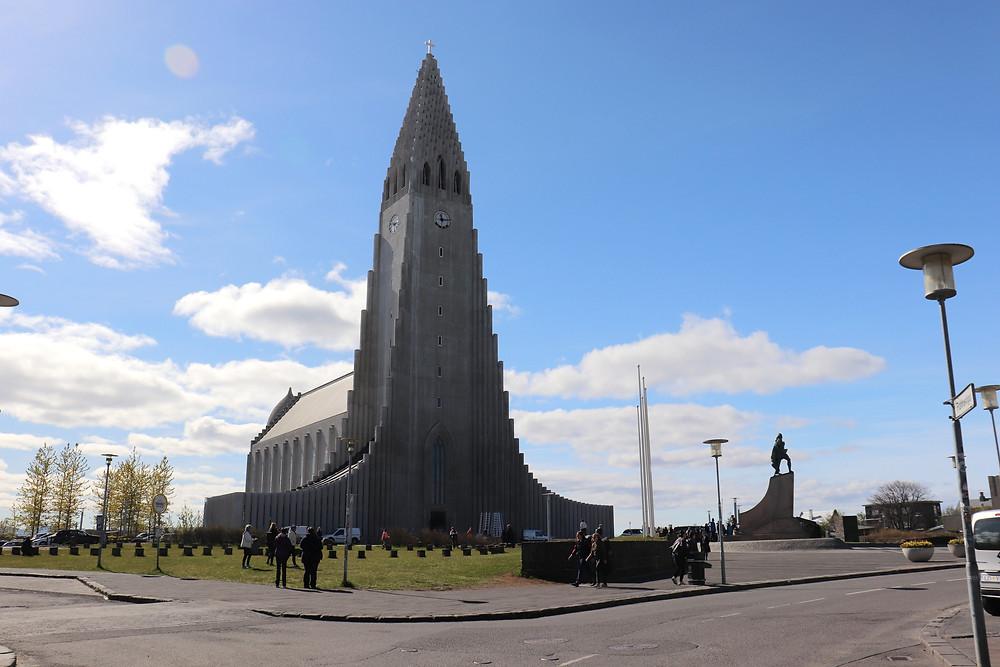 Hallgrímskirkja church in Reykjavik Iceland