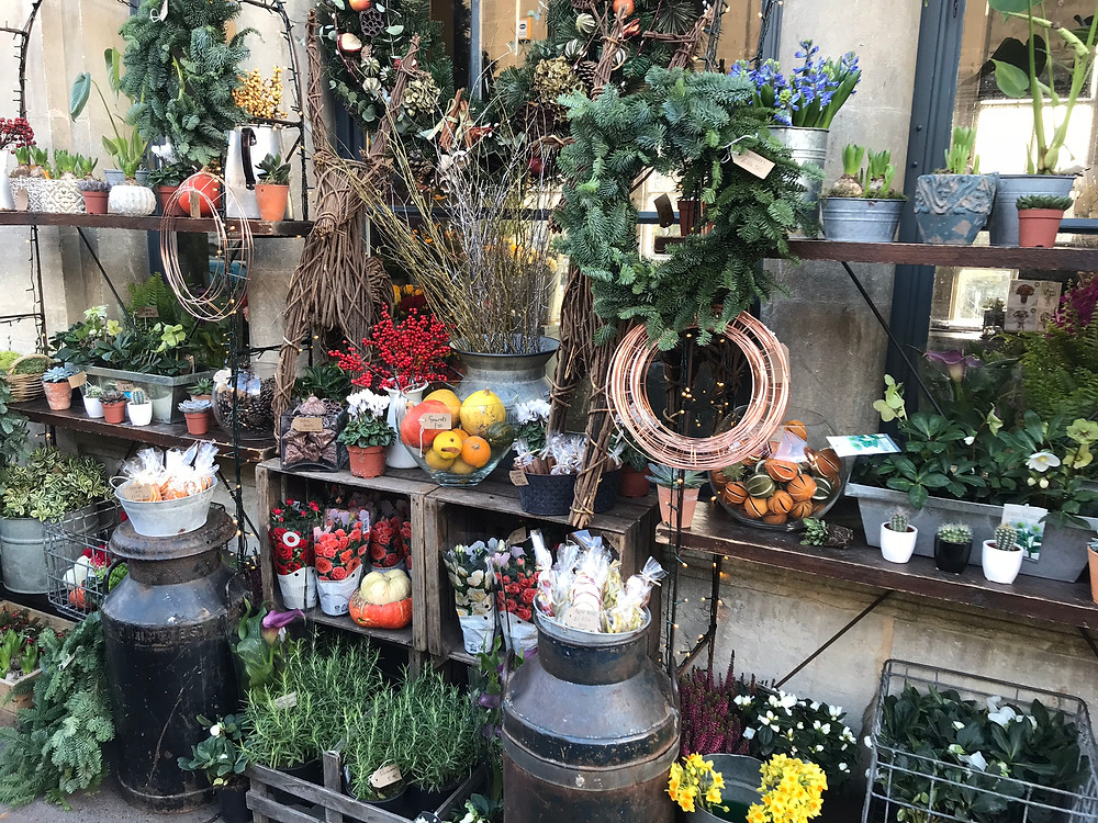 A flower shop in Bath, England