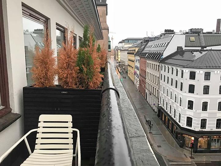 Balcony from Citybox Oslo hotel, Norway