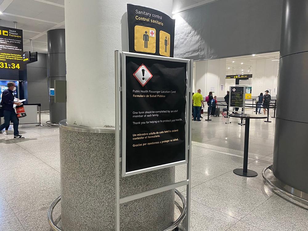 Sanitary control at Malaga Airport
