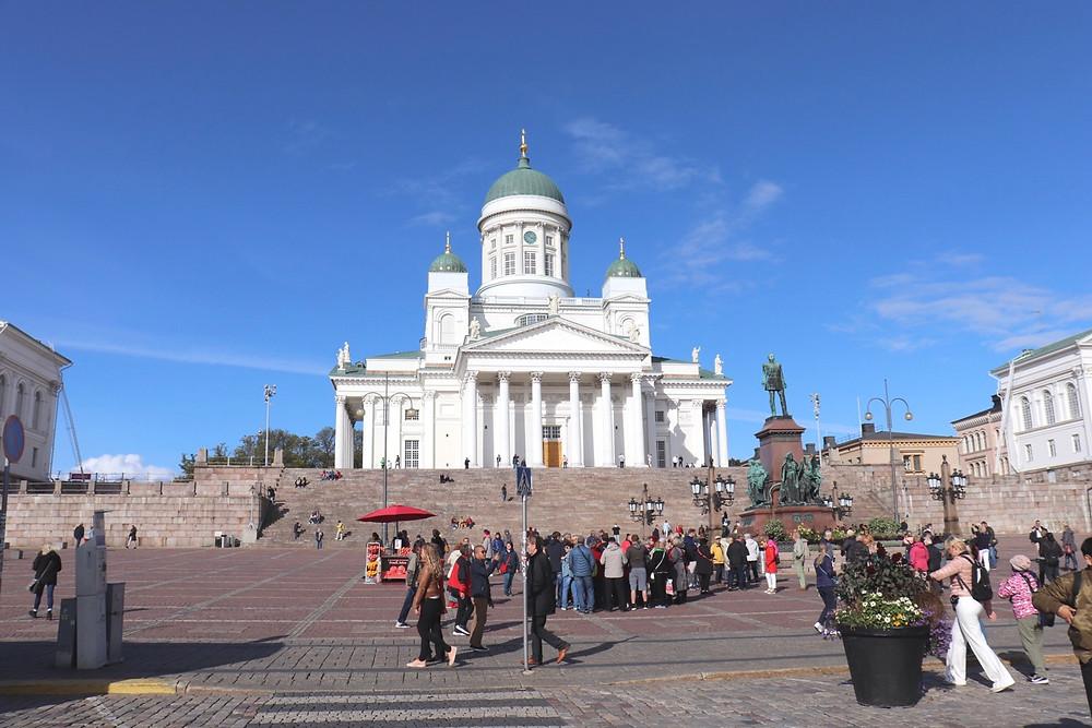 Helsinki cathedral in Senate Square Helsinki Finland