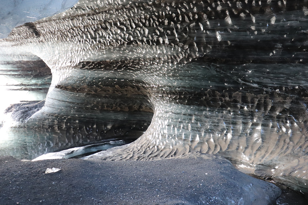 Inside the Katla ice caves in Iceland