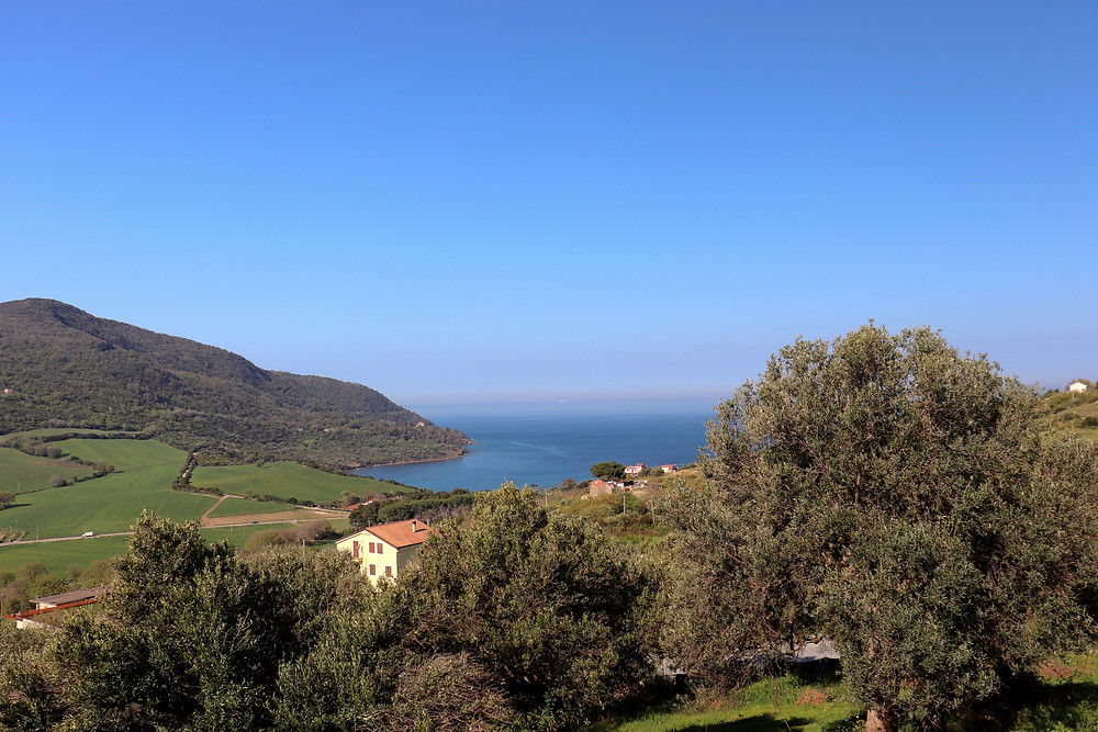 View of Agropoli in Cilento National Park, Italy