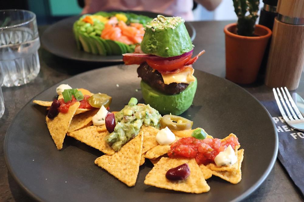 The Avocado Show's avocado burger Amsterdam Netherlands