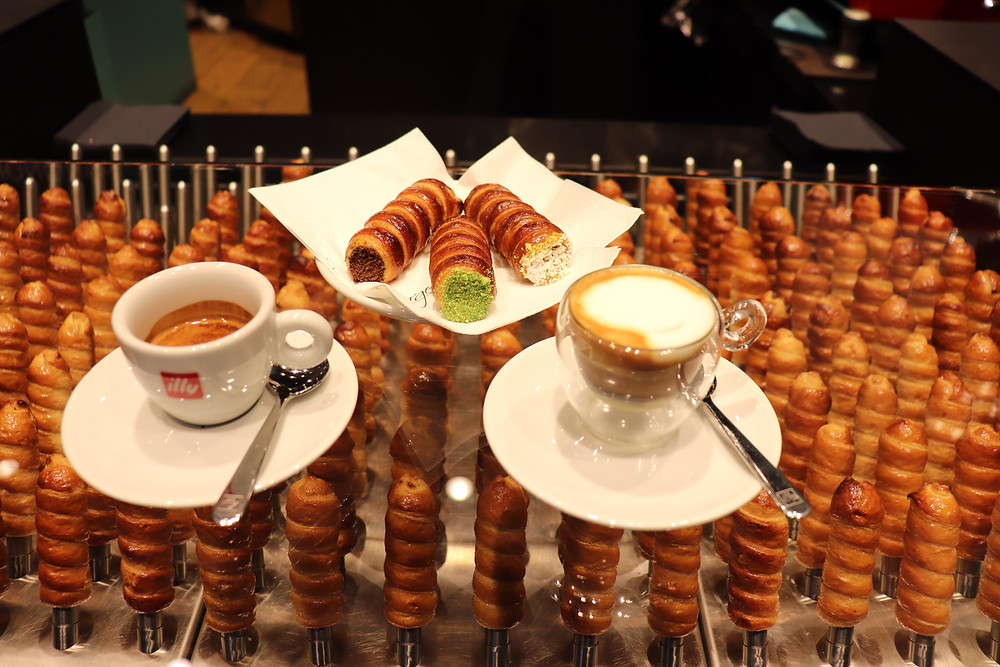 Cannoncini  and coffee in Milan Italy