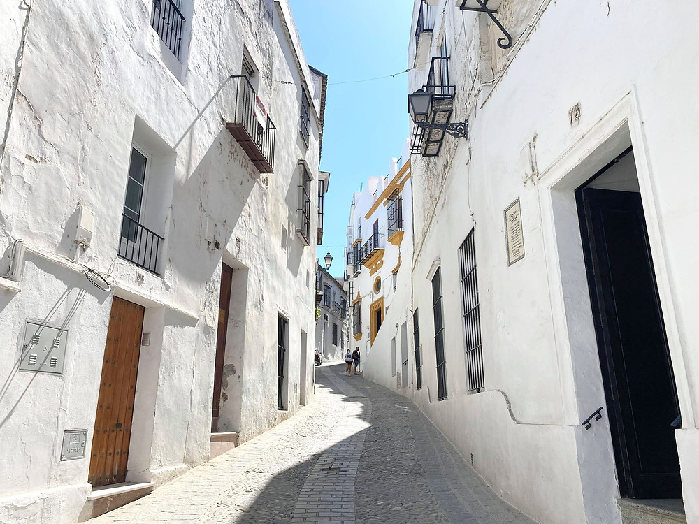 White washed street in Arcos de la Frontera, Spain