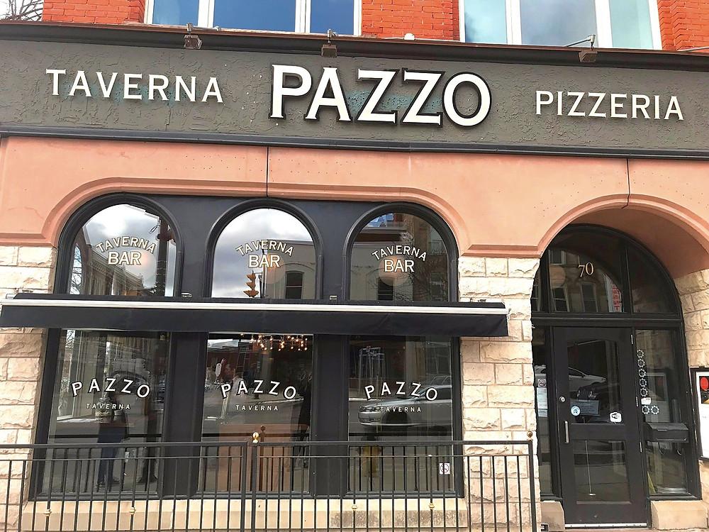 Pazzo Taverna & Pizzeria on Ontario Street in Stratford, Ontario