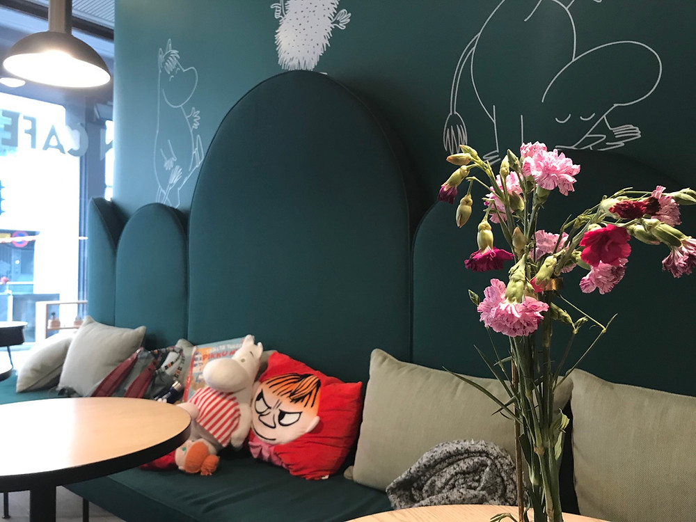 Inside the Moomin Cafe Helsinki Finland