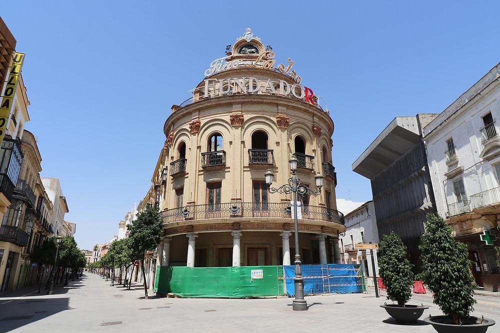 El Gallo Azul building and tapas bar in Jerez, Cadiz, Spain