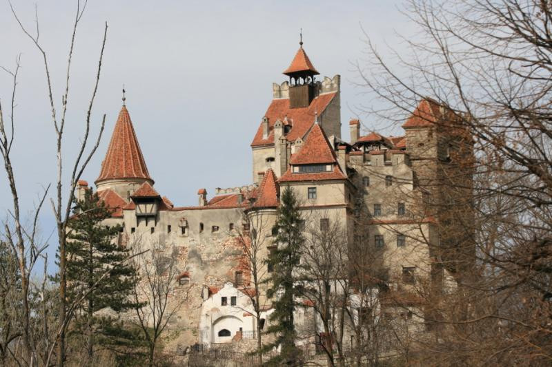 Bran Castle from the outside in Romania