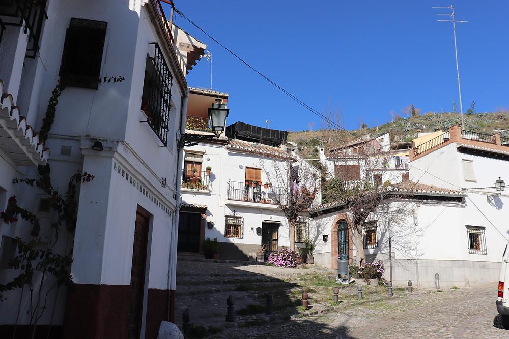 Sacromonte area in Granada Spain