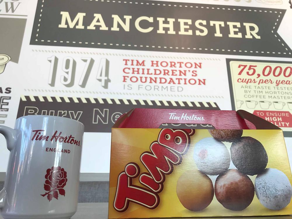 Tim Hortons timbits Manchester UK