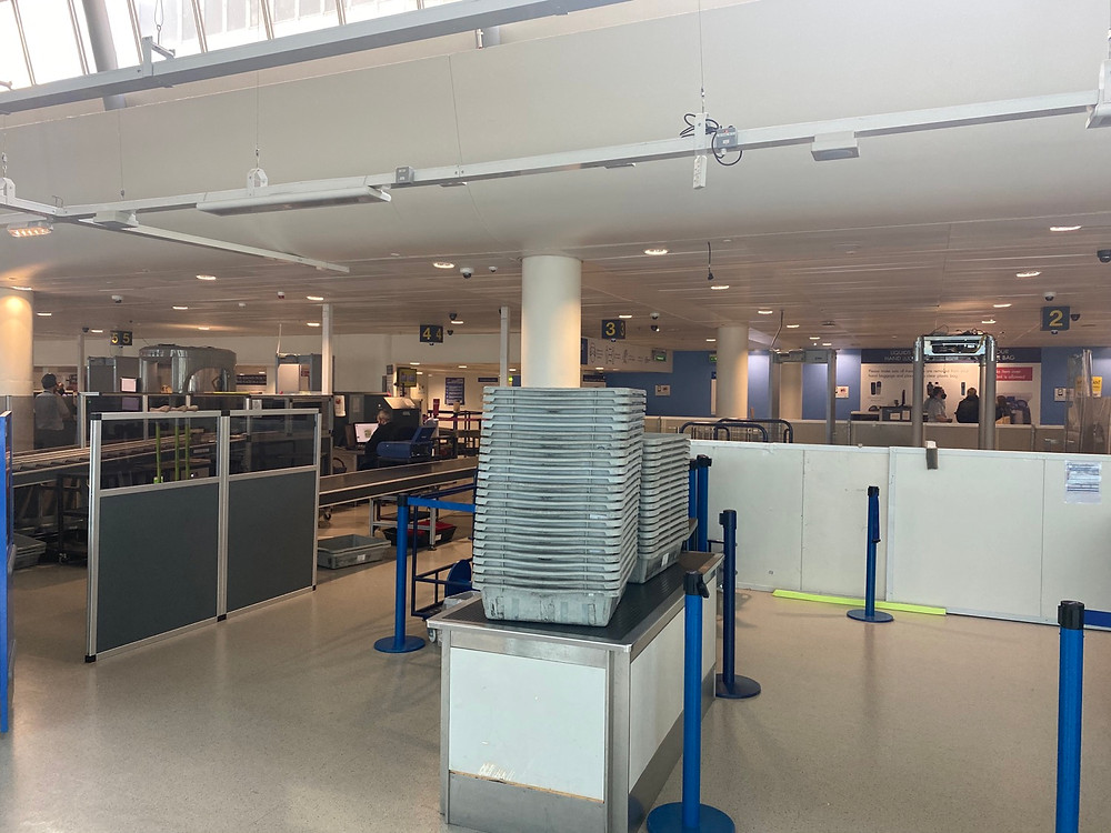 Security in terminal 3 at Manchester Airport