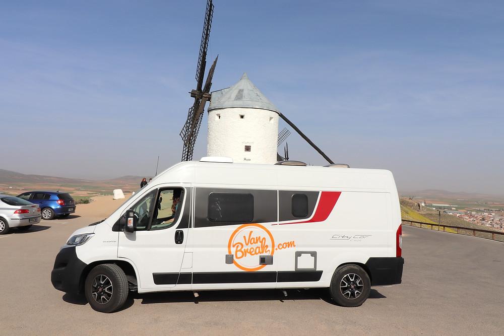 VanBreak Malaga at Consuegra windmills