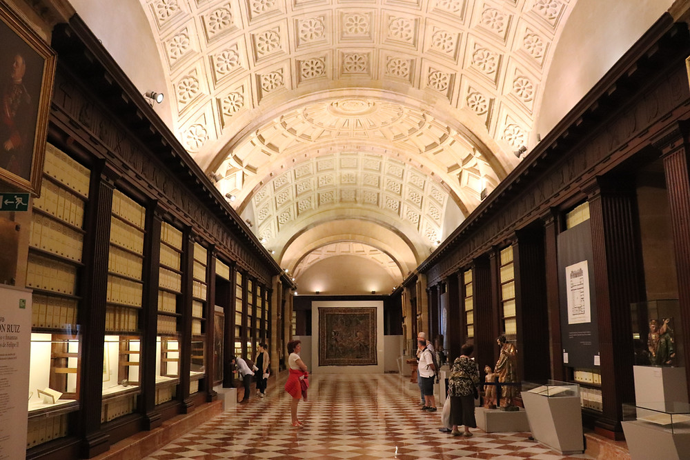 Archives of the Indies inside the building seville spain