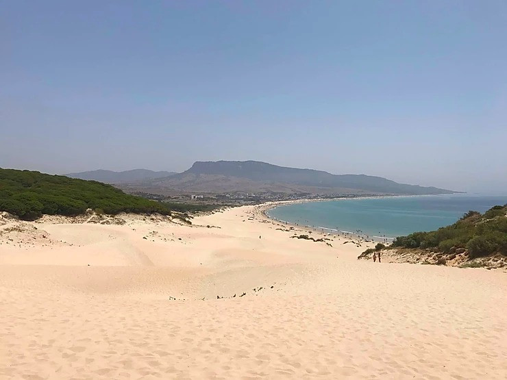 Playa de Bolonia sand dunes in Cadiz, Spain