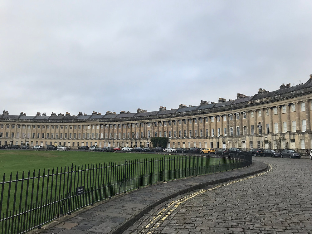 Royal Crescent ring road in Bath, England