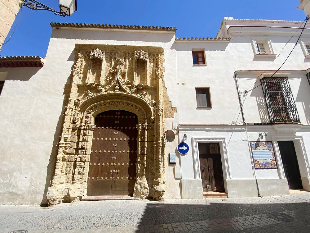 Entrance to Convento de la Encarnacion in Arcos de la Frontera, Spain