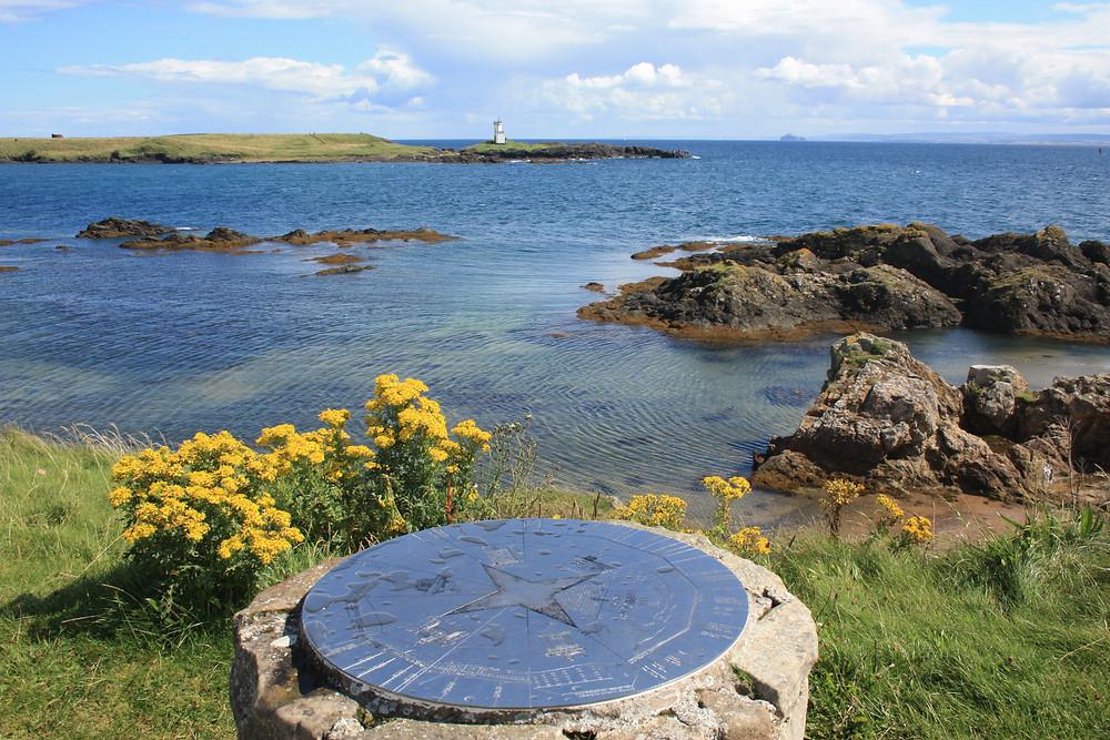 Elie Ness Lighthouse along the Fife Coastal Path, Scotland