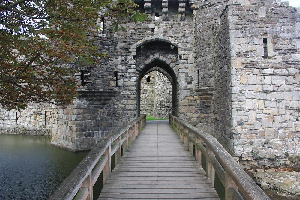 Entry bridge to Beaumaris Castle in Wales
