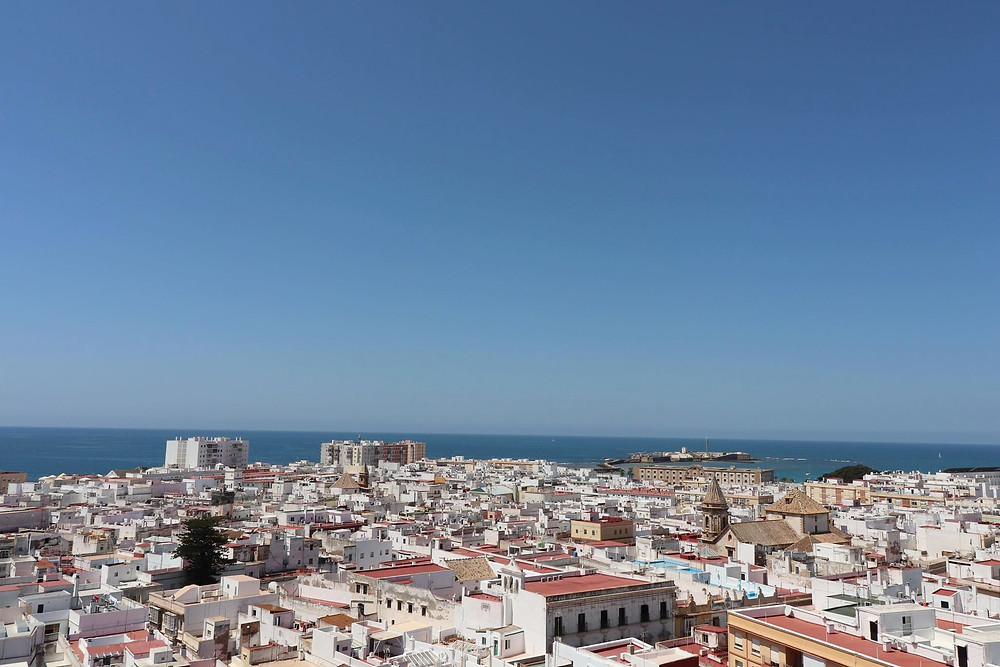 Torre Tavira view of the city of Cadiz, Spain
