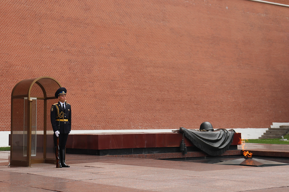 The eternal flame outside of the kremlin moscow russia