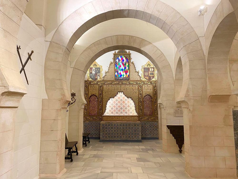 Inner arches and chapel of Castillo de San Marcos in El Puerto de Santa Maria, Cadiz