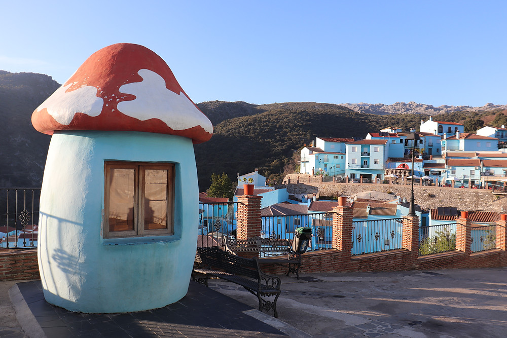 Juzcar Smurf village in southern spain