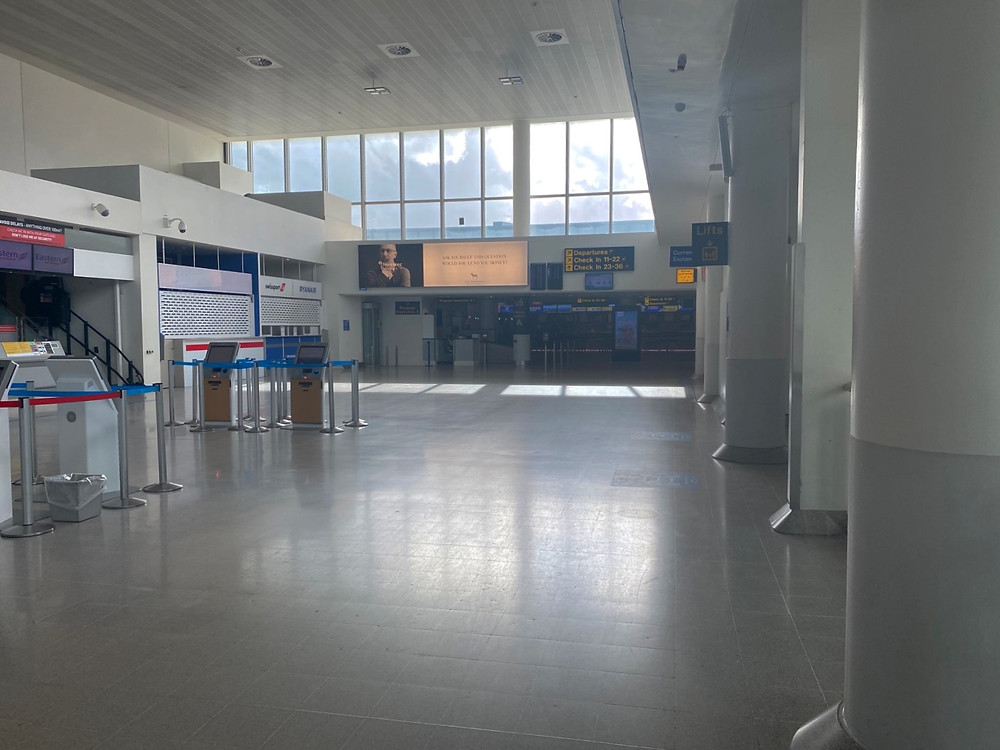 Check-in desks at terminal 3 Manchester Airport