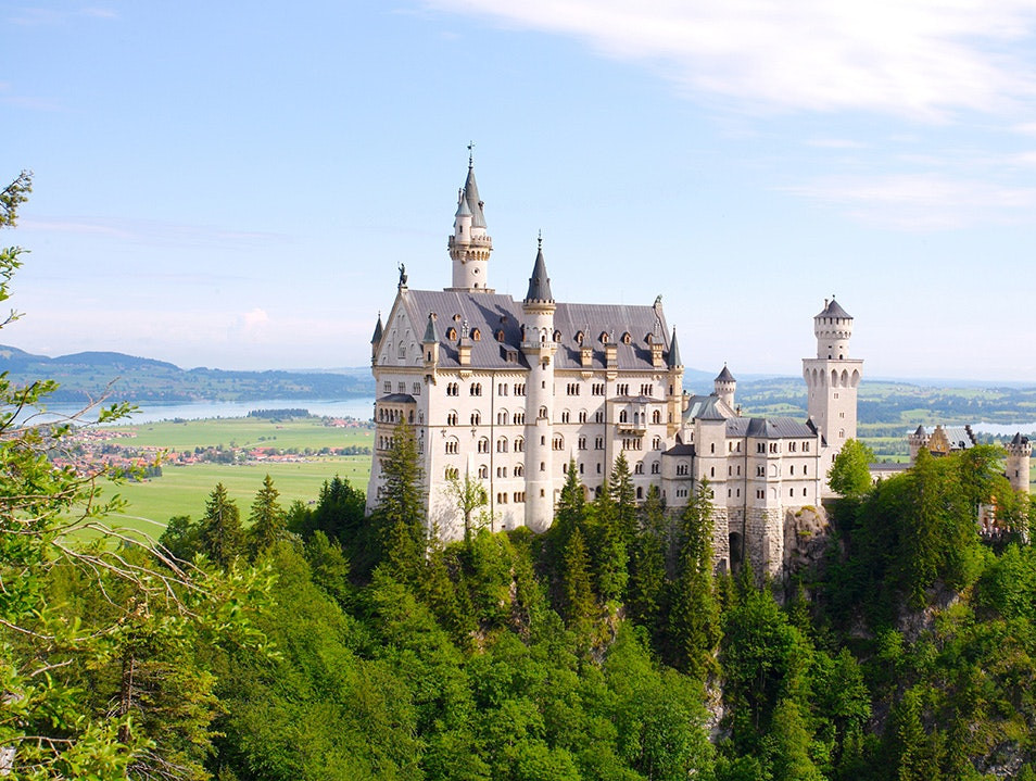 Neuschwanstein Castle view from afar in Germany
