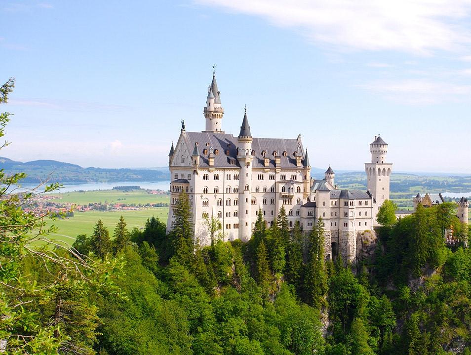 Neuschwanstein Castle view from afar in Germany