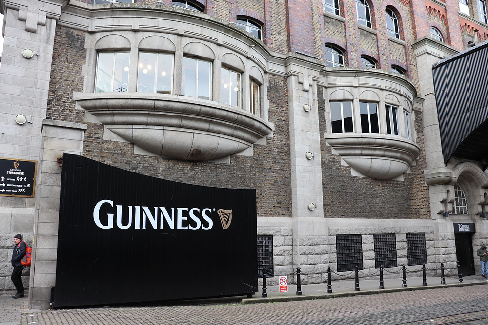 Entrance gate to the Guinness Factory in Dublin Ireland