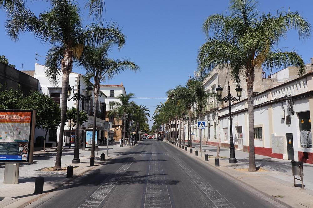 Avenida Micaela Aramburu de Mora in El Puerto de Santa Maria, Cadiz, Spain
