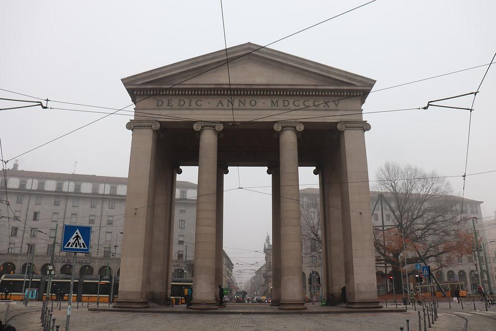 Porta Ticinese Milan Italy near canals